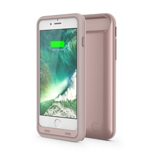 MFI portable 3100/4000mAh external backup UV slim Battery Power Case for iPhone 7/7plus with protect bumper ,OEM provided