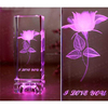 Cup Engraved Blank Crystal With LED Light Base