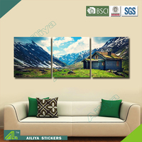 Home decor hotel wall art diy abstract triptych painting