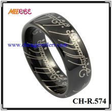 8MM lord of the rings jewelry MENS Tungsten RINGS ip Black Ring Wedding Bands