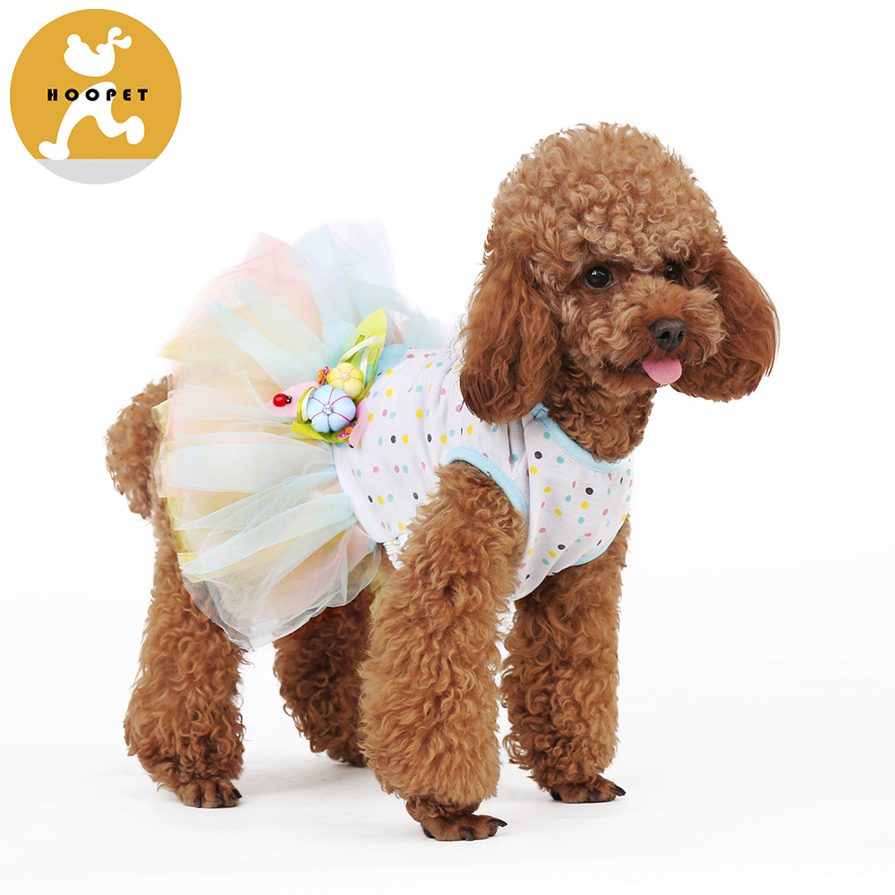 Flower Gauze Tutu Dress Pet Dog Cat Puppy Bowknot Princess Clothes Pet Only for Small Dog