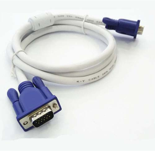 New Black Computer Monitor SVGA VGA M/M Male To Male Extension Cable