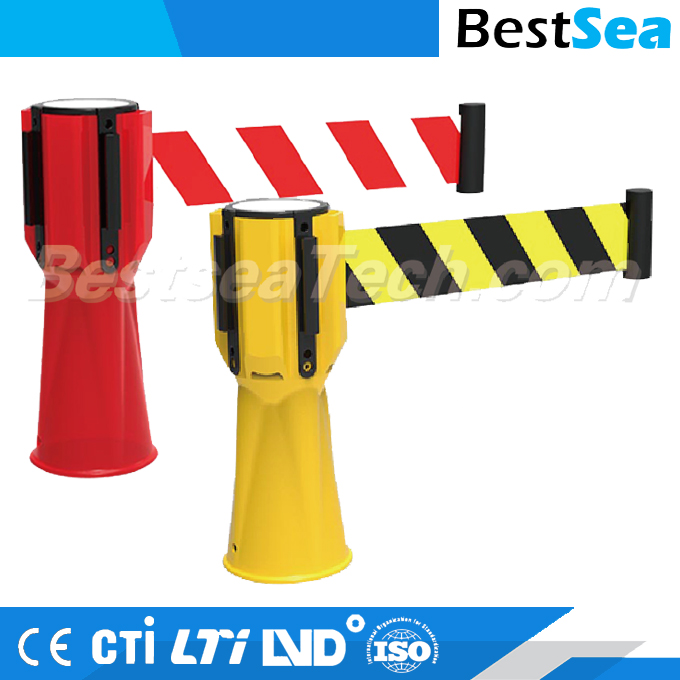 Traffic topper retractable barrier tape