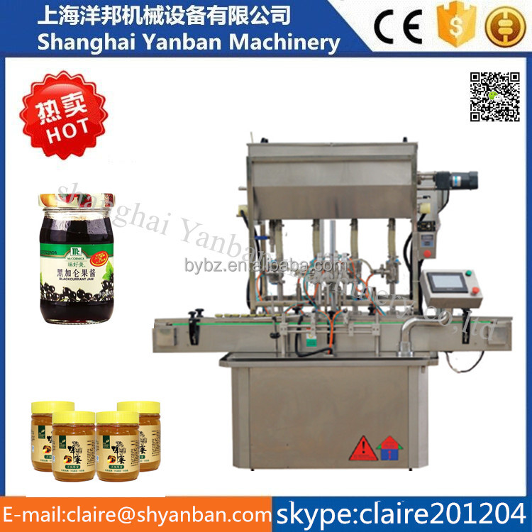 YB-JG4 High efficiency automatic piston pump filling machine for sauce made in shanghai