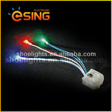 led red solar flashing shoes lights