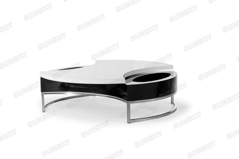 cheap quality modern multifunction wood coffee table in black and white 887E