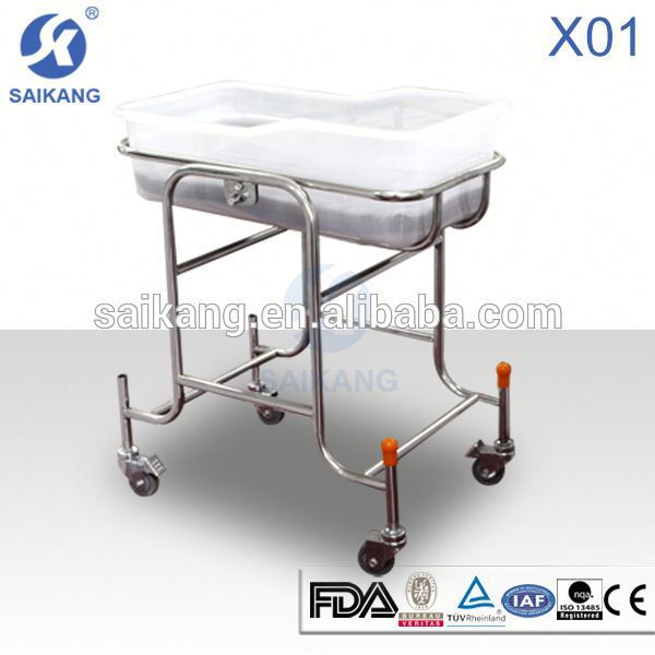 X01 Hot sale modern type stainless steel baby carriage crib