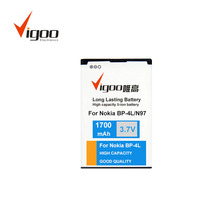 smallest cell phone battery 1700mah 3.7V mobile phone battery for Nokia BP-4L N97