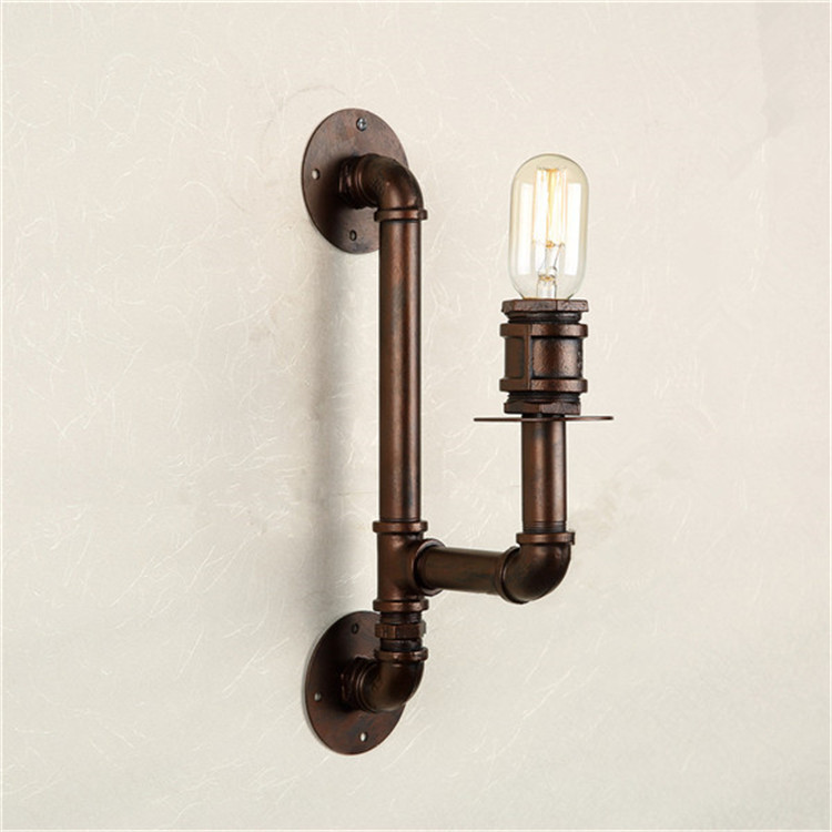 Nordic Loft Style Industrial Water Pipe Lamp Vintage Wall Light For Home Antique Bedside Indoor Lighting