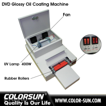 Automatic CD/UV glossy oil coating machine with big discount
