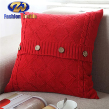 With Quality Warrantee Wine Coloured Couch Seat Knitted Cushion Covers