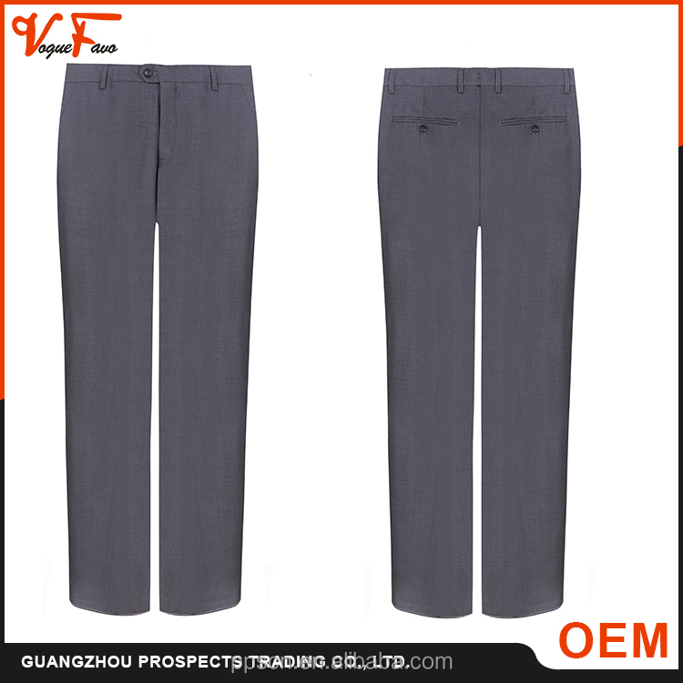 Hot men Trousers manufacturer formal black color 100% cotton man pants
