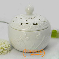 Chinese Craftmanship ceramic ELECTRIC AROMATHERAPY ESSENTIAL OIL BURNER/DIFFUSER