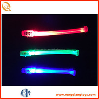 Happy new year light up led flashing bracelet toy SP5286108