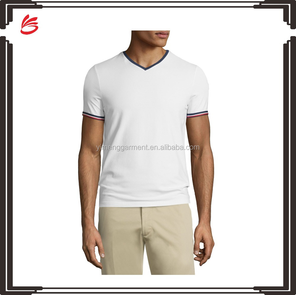 Men plain white v neck t shirt wholesale 2016 buy v neck for White t shirt bulk buy