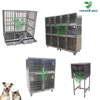 Good Quality Mobile stainless steel veterinary pet cages