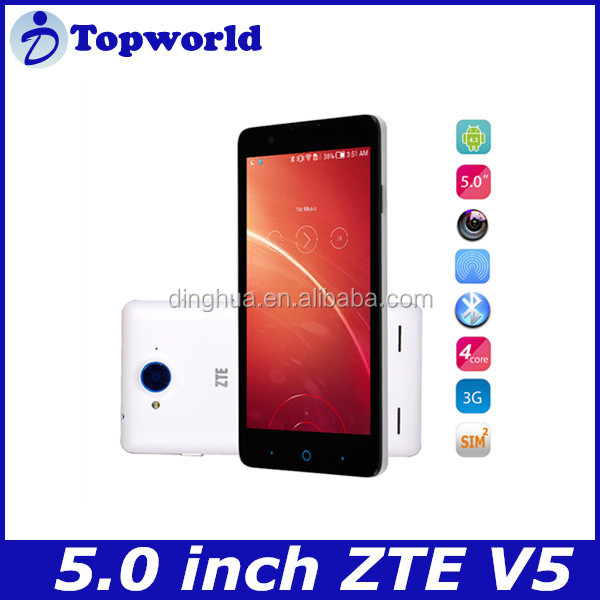 Hot selling ZTE V5 5.0 inch 1280x720 Quad Core 13.0MP China mobile phone factory directly