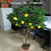 SJGS-15 artificial lemon tree evergreen artificial fruit trees ornamental bonsai tree