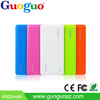 Guoguo 2016 Hot selling super thin credit card 3000mAh portable mobile power bank for iphone,samsung