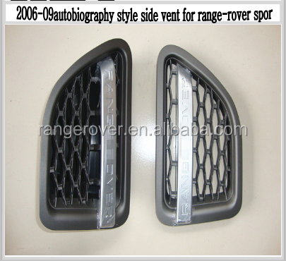 2008 autobiography style side vent for range-rover sport,gray+silver+black colour