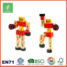 BSCI Wooden Magnetic Blocks Construction Robot Learning Kids Toys Educational 2016