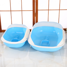 New Durable Plastic Cat Litter Tray/Cat Litter Pan / CatToliet With Blue Color