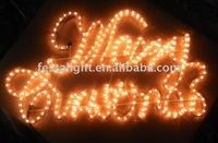 new style LED Merry Christmas Silhouette