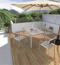 patio porch aluminium chair plastic wood polywood Dining Table
