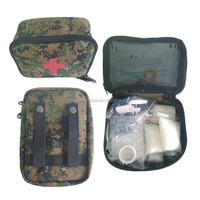 Waterproof Jungle adventure military first aid kit bag with belts for backpacks
