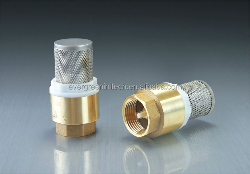 Brass foot valve with stainless steel filter view water for Mineral wool pipe insulation weight per foot
