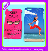JESOY Design your own cover 3D Sublimation For Apple iPhone 5 5c 6 Mobile Phone Case Printing