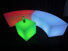 LED cube with different color by rotational mold