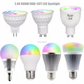 2.4G Milight 4W 5W 6W 9W GU10 MR16 E27 RGB+CCT Dimmable Spotlight Bulb Lamp