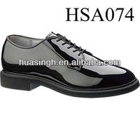 high-gloss leather outsole oxfords style Bates brand dress shoes for men uniform
