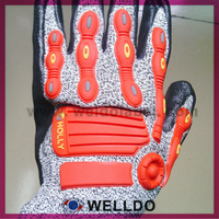 Cut and impact resistant mechanics gloves
