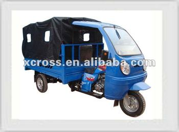200cc Cargo Tricycle with Canvas Roof, P-Tiger 200