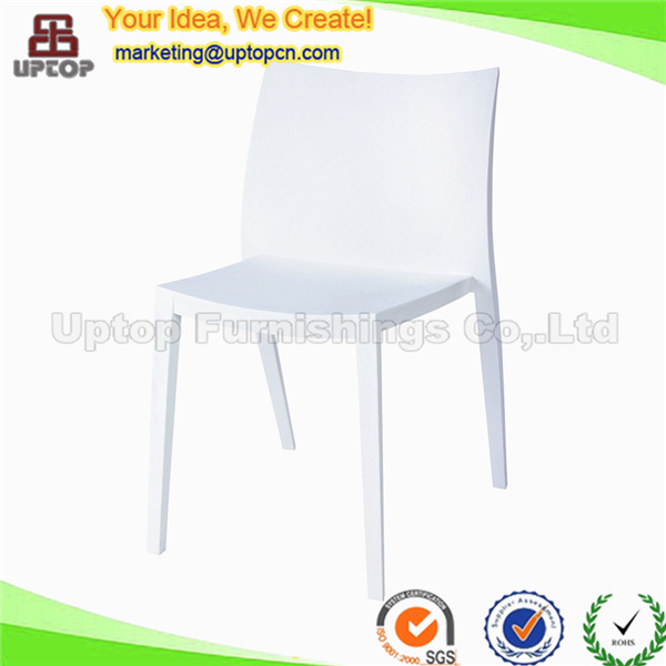 White stackable dining plastic monoblock chair for wholesale (SP-UC138)
