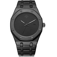 Low MOQ Relojes Custom Men's Stainless Steel Quartz Watch