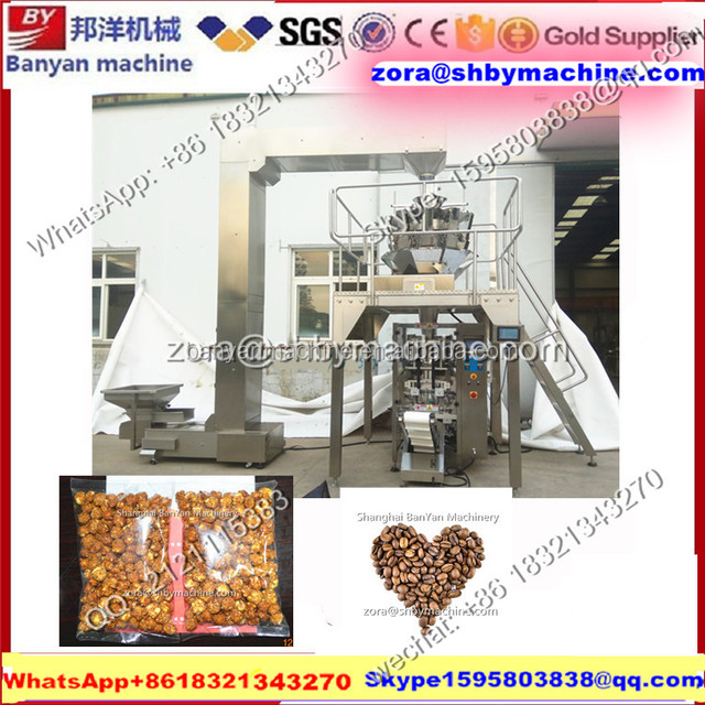 Automatic banana chips water chestnut packaging machine/ plantain chips packaging machine 500g 1000g