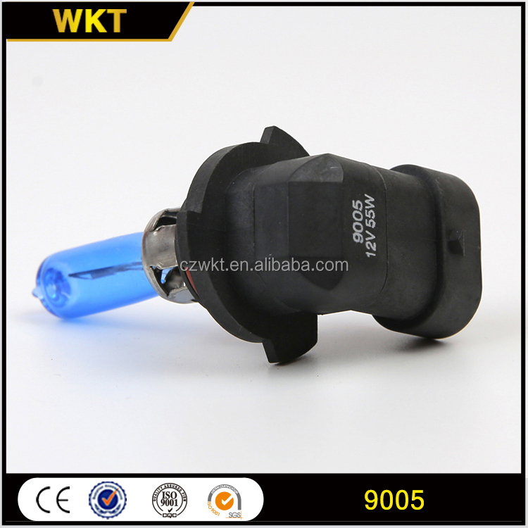 Low price high grade 9005 blue halogen auto car light bulbs