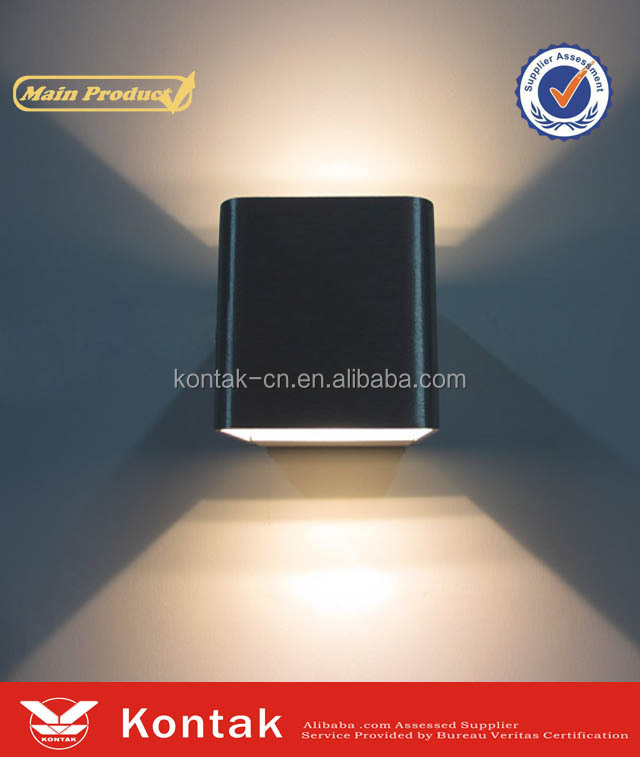 2016 hot new products China express 6w square outdoor lighting led wall lamp