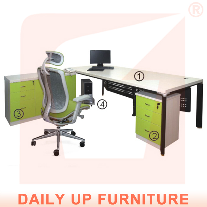 Manager Desk with Drawer L-Shaped Office Table Executive CEO Desk Office Desk Office Furniture