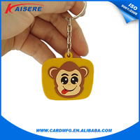ISO14443 Beautiful Cartoon Soft Pvc rfid Key Fob