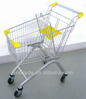 chrome metal shopping carts (European Style YRD-A60)