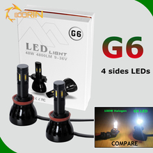 Good quality super bright hot l5 l6 l7 g5 g6 g20 auto head lamp RGB dual color h1 h3 h7 h11 d2 d2s h4 car led headlight bulbs