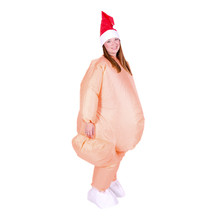 Inflatable Christmas food big feet no feathers nude turkey costume one size fits all dress