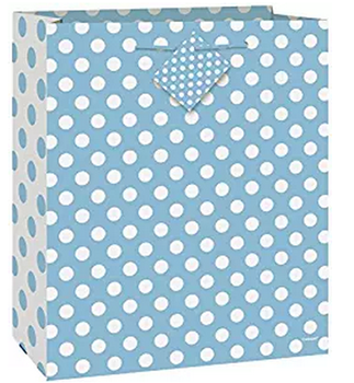 2017 Custom Polka Dot Clothes Packaging Paper Bag Gift With Custom Logo