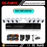 8CH 720p AHD DVR kit dvr, security camera 8ch cctv camera dvr kit
