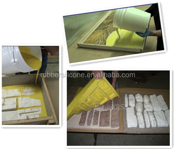 Liquid urethane Rubber to Make Mold for Stamped Concrete Molds