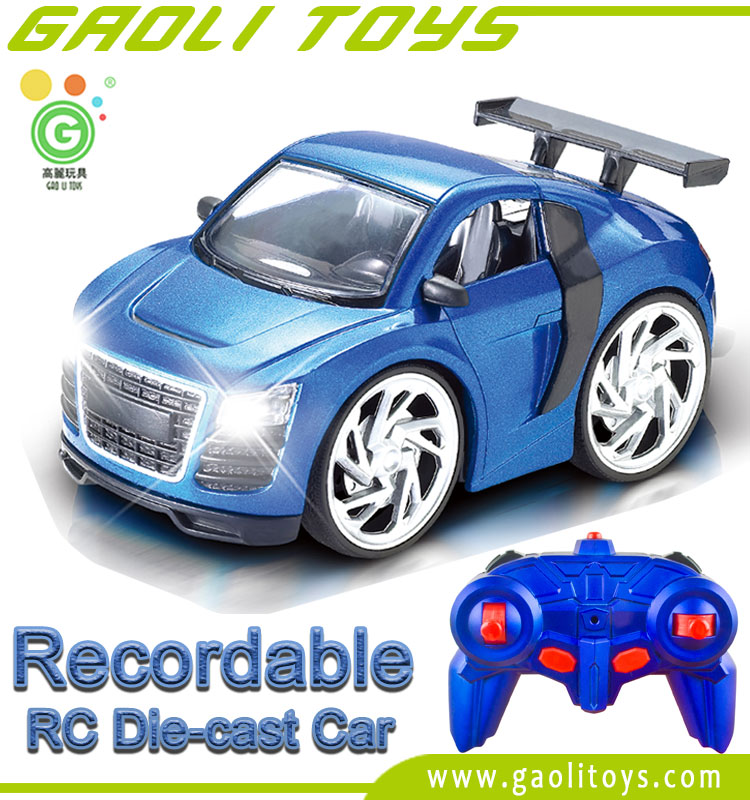 1:28 Scale Recordable Voice-Control Die-Cast 4CH RC Car Suitable for Amazon Sold